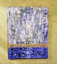 Gold Leaf Gold Foil Textured Acrylic Abstract Painting 22 x 28 Multicolored