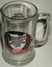 BEER DRINKING GLASS MUG NHL HOCKEY 1997 STANLEY CUP STATS PLAYOFF RECORD RESULTS