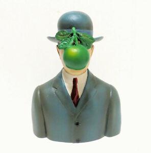 Rene Magritte Son Of Man Bowler Hat Resin Sculpture 5-1/4 large