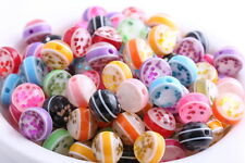 30 pcs mixed color acrylic Resin beads spacer findings charms 10mm