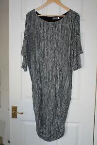 Mint Velvet ~ Grey Viscose Blend Dress With Stretch ~ Size 16
