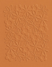 Lifestyle Crafts QuicKutz  A2 Embossing Folder FLOWERS Springtime   ~  EF-A2-040