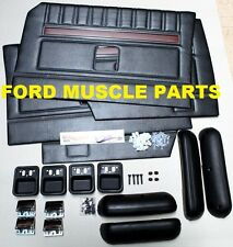 FORD FALCON XY GT GS BLACK DOOR TRIM INTERIOR  KIT OUTRIGHT NO EXCHANGE NEEDED