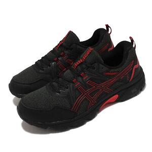 Asics GEL-Venture 8 4E Extra Wide Black Red Men Running Sports Shoe 1011A826-007