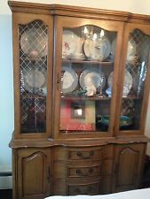 dining room set(dining room table, protective cover, 6 chairs, china cabinet)