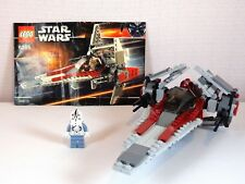 Lego Star Wars 6205 Set Episode III V-wing Fighter Complete with Instructions