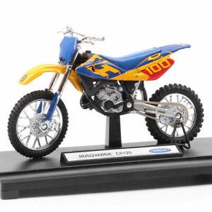 Welly My Husqvarna Cr 125 Motocross Model Diecast Motorcycle Toy Blue Boys