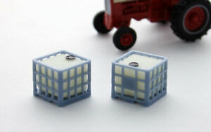 1:64 IBC Pallet Tanks Grey pack 3D to Scale Diorama Display Farm