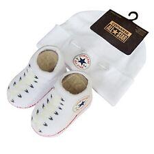Converse Chuck Taylor White Hat & Sock/Bootie set -0/6 months BNWTS