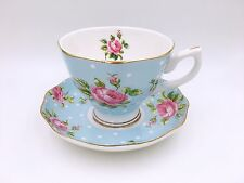 English Afternoon Tea Set/Tea Cup And Saucer/ Blue Flower Pattern