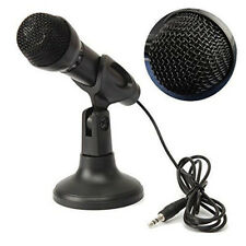 Mini 3.5mm Studio Speech Stereo Microphone MIC with Stand Mount for PC Lapt