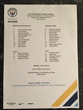 MAN CITY WOMEN V CHELSEA LADIES OFFICIAL TEAMSHEET ( 25.09.2016 ) * CHAMPIONS *