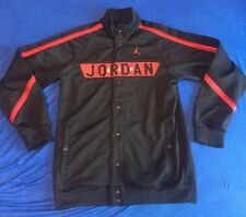 Air Jordan Jacket Warm Up Suit Shooting Shirt Button Up Size Small