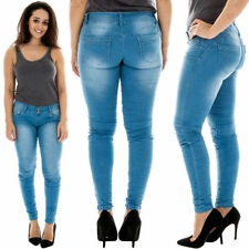 Polyester Machine Washable Classic Rise Jeans for Women