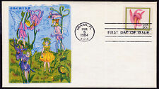 2076-79 Orchids stamps FDC, set of four Doris Gold Cachets
