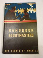 1956 (c)1947 Handbook for Scoutmasters 4th Ed 10th Print Boy Scout of America