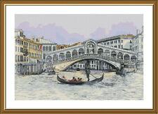 Counted Cross Stitch Kit NOVA SLOBODA PE3524 - Venetian canal