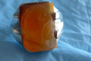 VINTAGE HAND CARVED AGATE CARNELIAN CAMEO MEN'S RING SIZE 11 RING