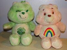 "13"" Vintage Original Cheer Bear & Good Luck Care Bears 1983"