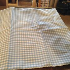 Homemade blue white checkered pillow cases