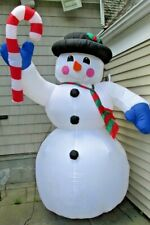 Large Snowman Holiday Christmas Gemmy Airblown Inflatable Light Up Yard Decor