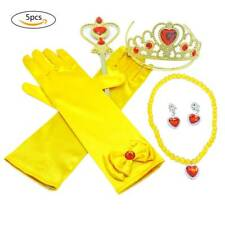 Yellow Princess Dress Accessories Holiday Dress Up Accessories 5 PCS Cosplay Set