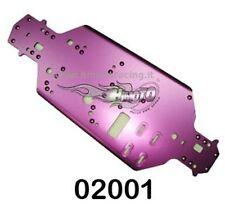 02001 TELAIO ALLUMINIO METALLO MODELLI SCOPPIO 1:10 CHASSIS 2,5mm ON-ROAD HIMOTO