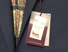 Ted Baker Jacket Slim Skiperj Salt And Pepper Fit Suit Blue RRP £275 BNWT 44L