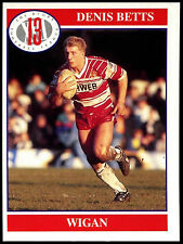 Denis Betts #131 Merlin Rugby Football League 1991 Trade Card (C247)
