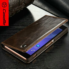 CaseMe Brand Magnetic Leather Stand Wallet For Sony Xperia Case Cover Card Slot