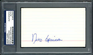 Nino Espinosa Autographed Signed 3x5 Index Card Mets Phillies PSA/DNA 83862859