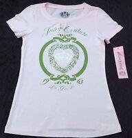 NEUF AVEC ÉTIQUETTES Juicy Couture Rose Manche Courte T-Shirt coton Filles 8 ans