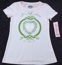 NUEVO CON ETIQUETA JUICY COUTURE Auténtico rosa manga corta de algodón camiseta