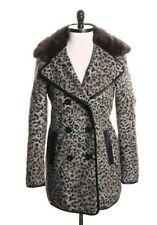 TopShop Animal Leopard Print Faux Fur Punk Vintage Inspired Jacket Sz 4 Small