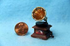 Dollhouse Miniature Old Fashion Gramophone ~ G8056
