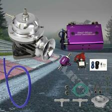 Chrome Turbo Type-RS BOV Blow Off Valve Purple Dual Stage 30PSI Boost Controller