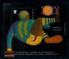 [72546] Paraguay 1977 World Cup Football Soccer Argentina Souvenir Sheet MNH