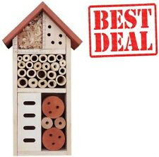 New ListingLulu Home Wooden Insect House, Hanging Insect Hotel for Bee, Butterfly, Ladybird