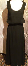 Gorgeous TOAST Black SILK Maxi Full Length Dress - Size 14