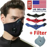 Outdoor Cycling Air Purifying Face Mask Cover Haze Washable Reusable Filter Azp