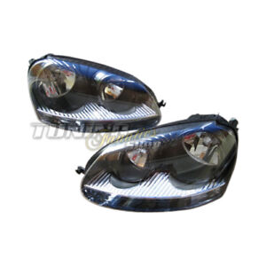 Original Hella Headlight Set Black Suitable for All VW GOLF 5 V