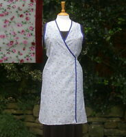 1930-1940's style wartime crossover apron re-enactment, kitchen use  floral