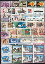 #1332 - Repubblica - Lotto di 116 francobolli in quartina, 1960/2010 - Usati