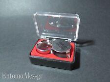 magnifier glass eye loupe 30x lente ingrandimento vetro orologeria entomologia