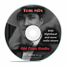 Tom Mix, 599 Old Time Radio Shows, Western Cowboy, Horses OTR mp3 DVD G34
