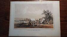 """Lithograph """"COUNCIL ..."""" /John Mix Stanley / 1860 Railroad Survey Report"""