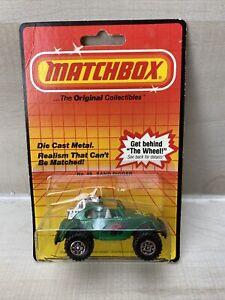 Vintage 1983 Matchbox No. 49 SAND DIGGER GREEN VW BEETLE On Card Made In Macau