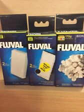 genuine Fluval U2 Media Replacement Filter Foams,Poly & Biomax. full set