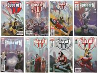 House of M 1 2 3 4 5 6 7 8 Full High Grade Set Lot Run X-Men No More Mutants