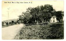 Big Indian NY - STATE ROAD WEST OF STATION - Postcard Catskills
